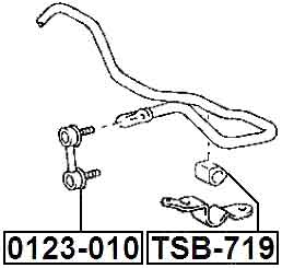 Fits TOYOTA LEVIN//TRUENO AE110//AE111 Rear Stabiliser Anti Roll //Sway Bar Link